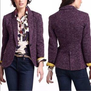Cartonnier EUC ANTHROPOLOGIE Purple Blazer Jacket